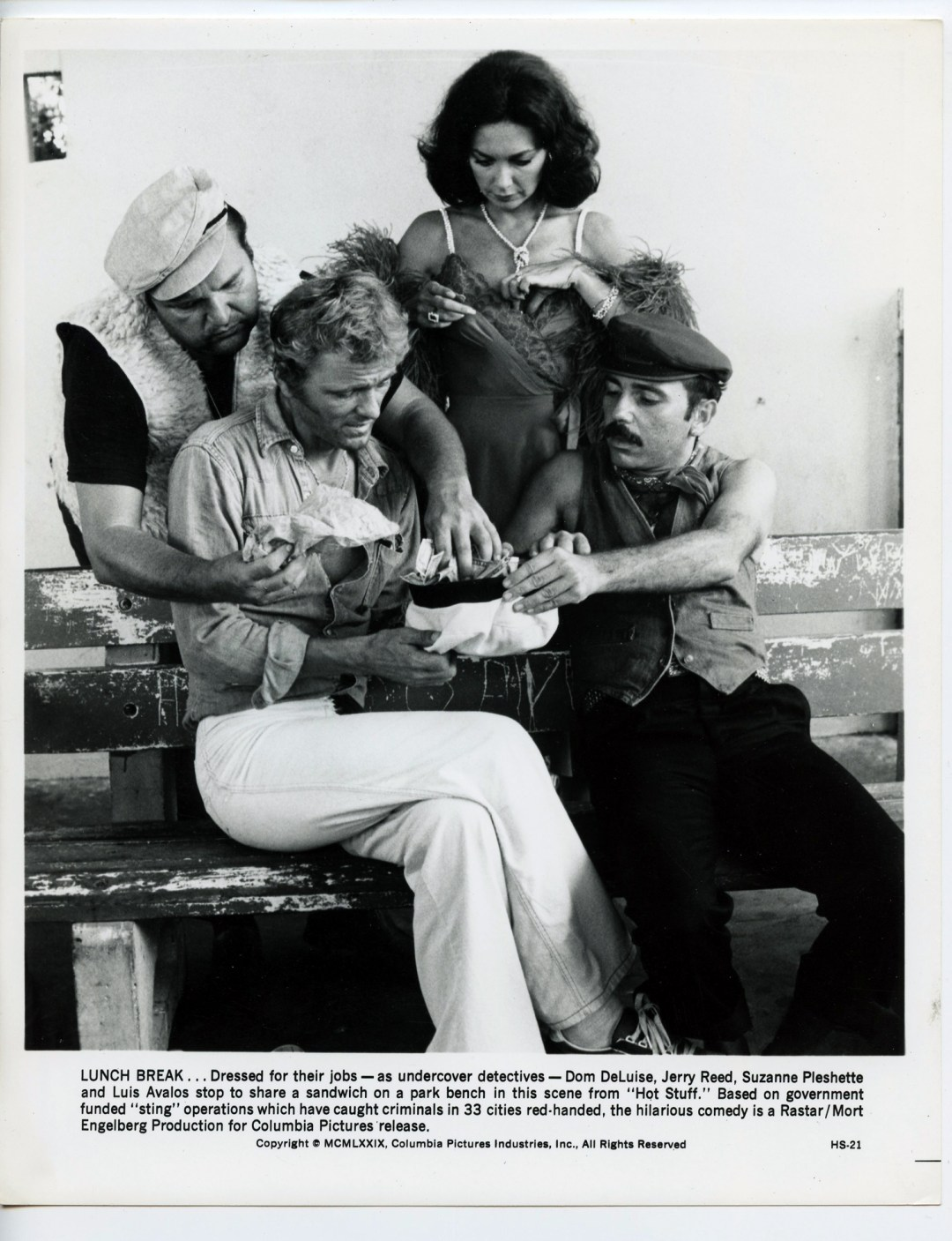 Hot Stuff Lobby Card 1979 Dom DeLuise Jerry Reed Suzanne Pleshette Louis Avalos