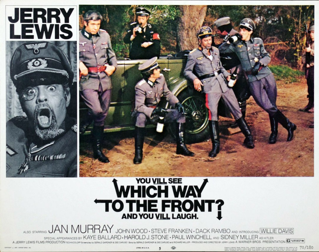 Jerry Lewis 1970 Which Way to the Front 11x14 Lobby Card Set of 4