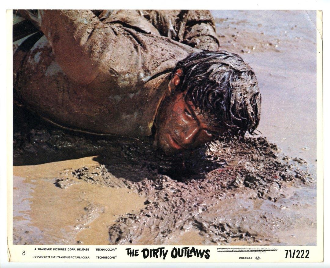 Andrea Giordana 1971 The Dirty Outlaws 8x10 Lobby Card
