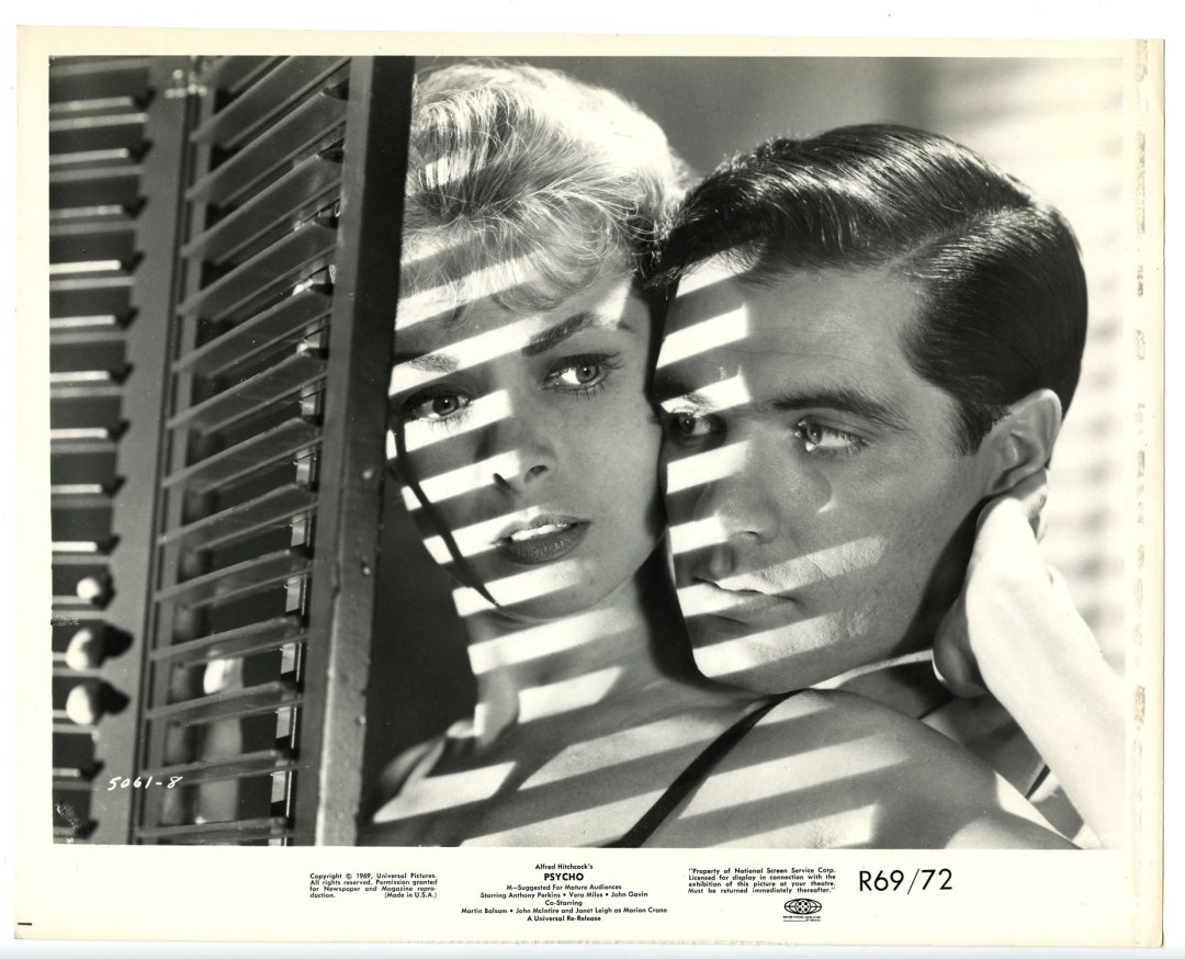 Anthony Perkins Janet Leigh 1960 Psycho 8 x 10 Lobby Card