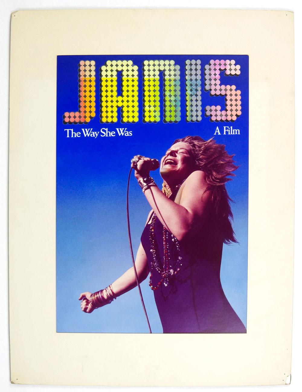 Janis Joplin Poster The Way She Was 1974 Movie Alternative version 18 x 12.5