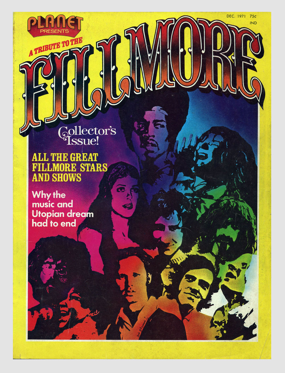 Bill Graham Fillmore Magazine 1971 Last days of Fillmore East & West