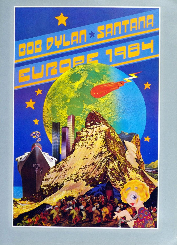 Bob Dylan Program Book w/ Santana 1984 Europe Tour