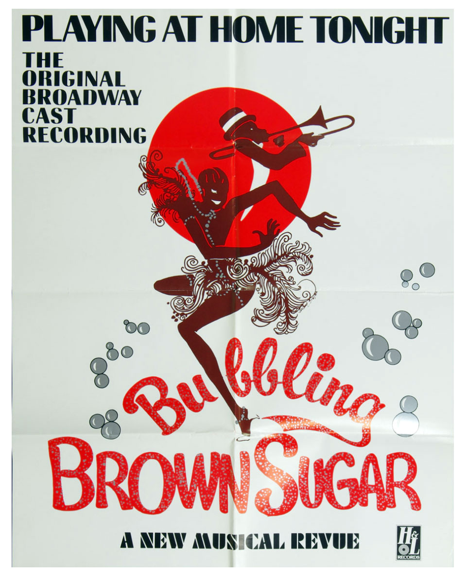 Bubbling Brown Sugar Poster 1976 Broadway Musical Album Promo 21x27