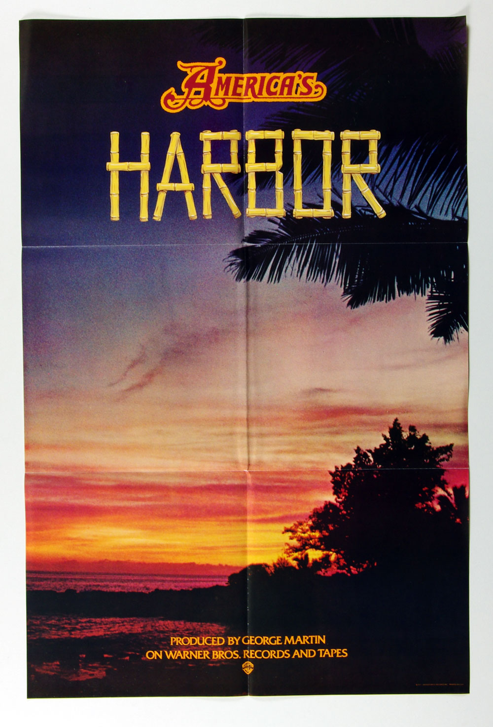 America Poster Harbor 1977 New Album Promo 23 x 35