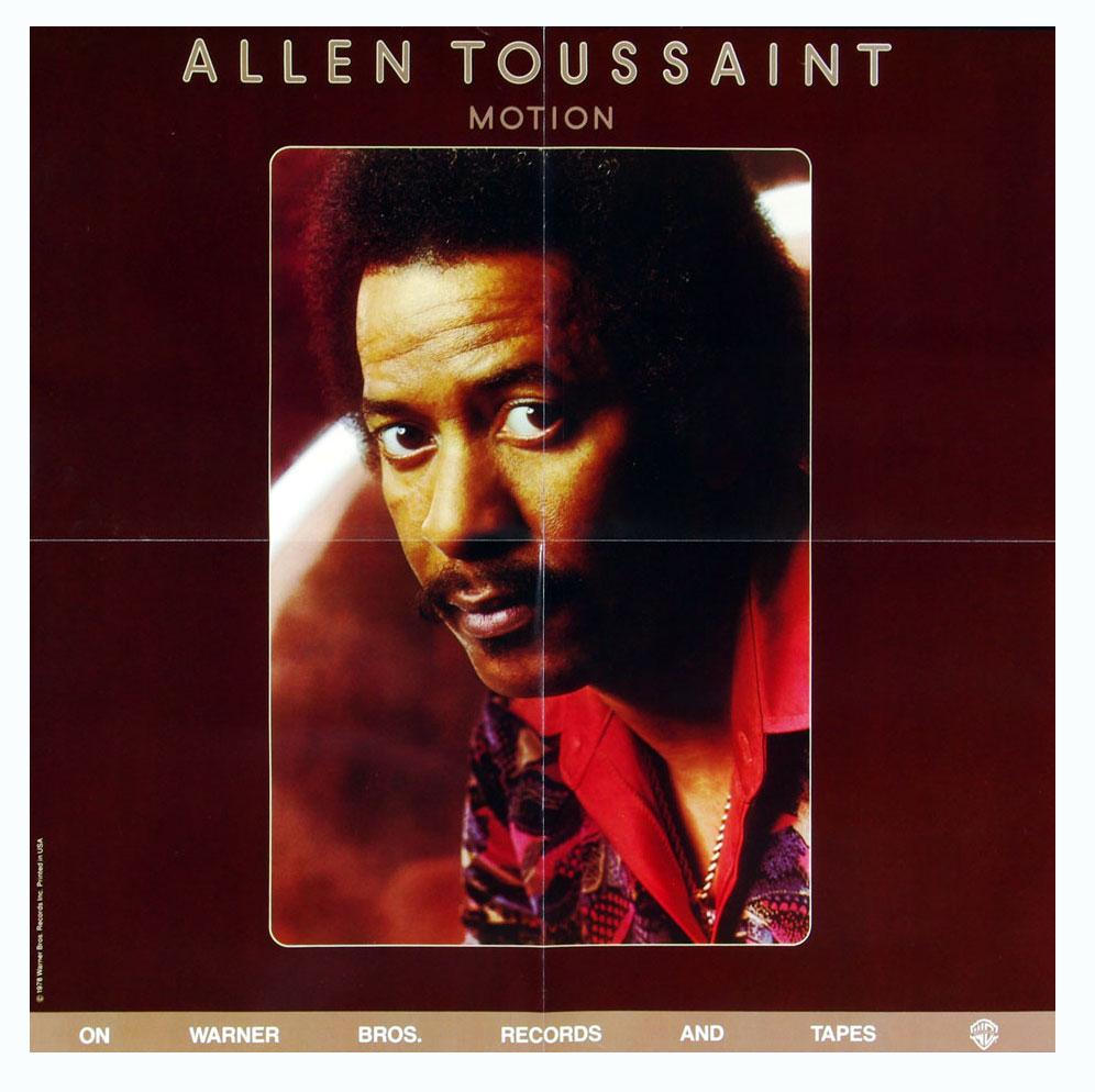 Allen Toussaint Poster 1978 Motion New Album Promo 23 x 23