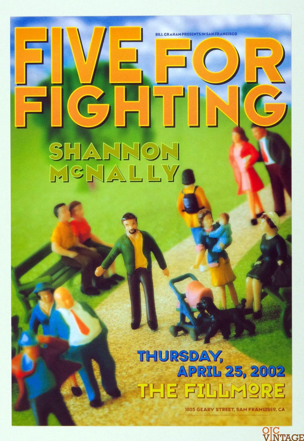 New Fillmore F518 Poster Five for Fighting Shanon McNally 2002 Apr 25