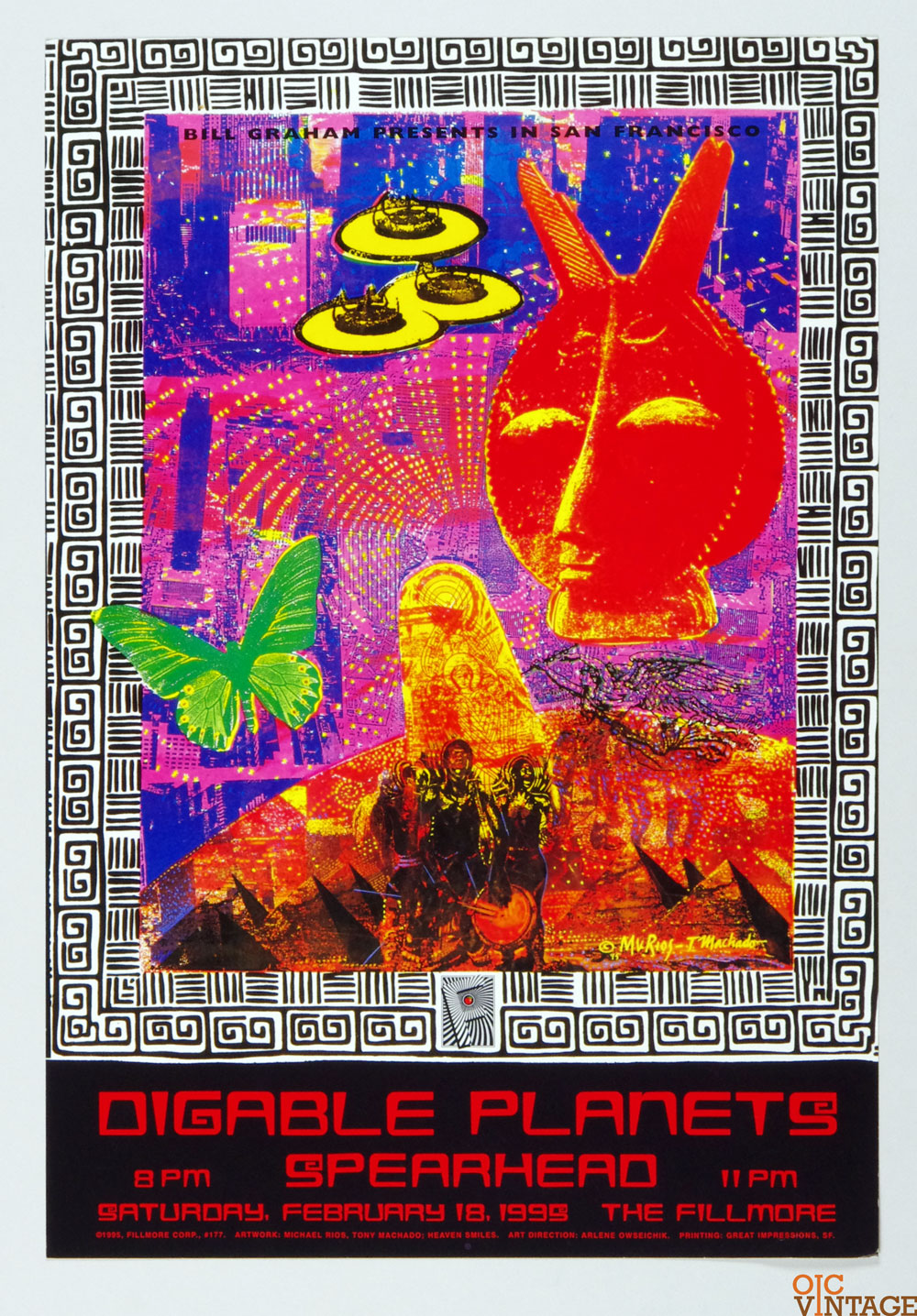 New Fillmore F177 Poster Digable Planets Spearhead 1995 Feb 18
