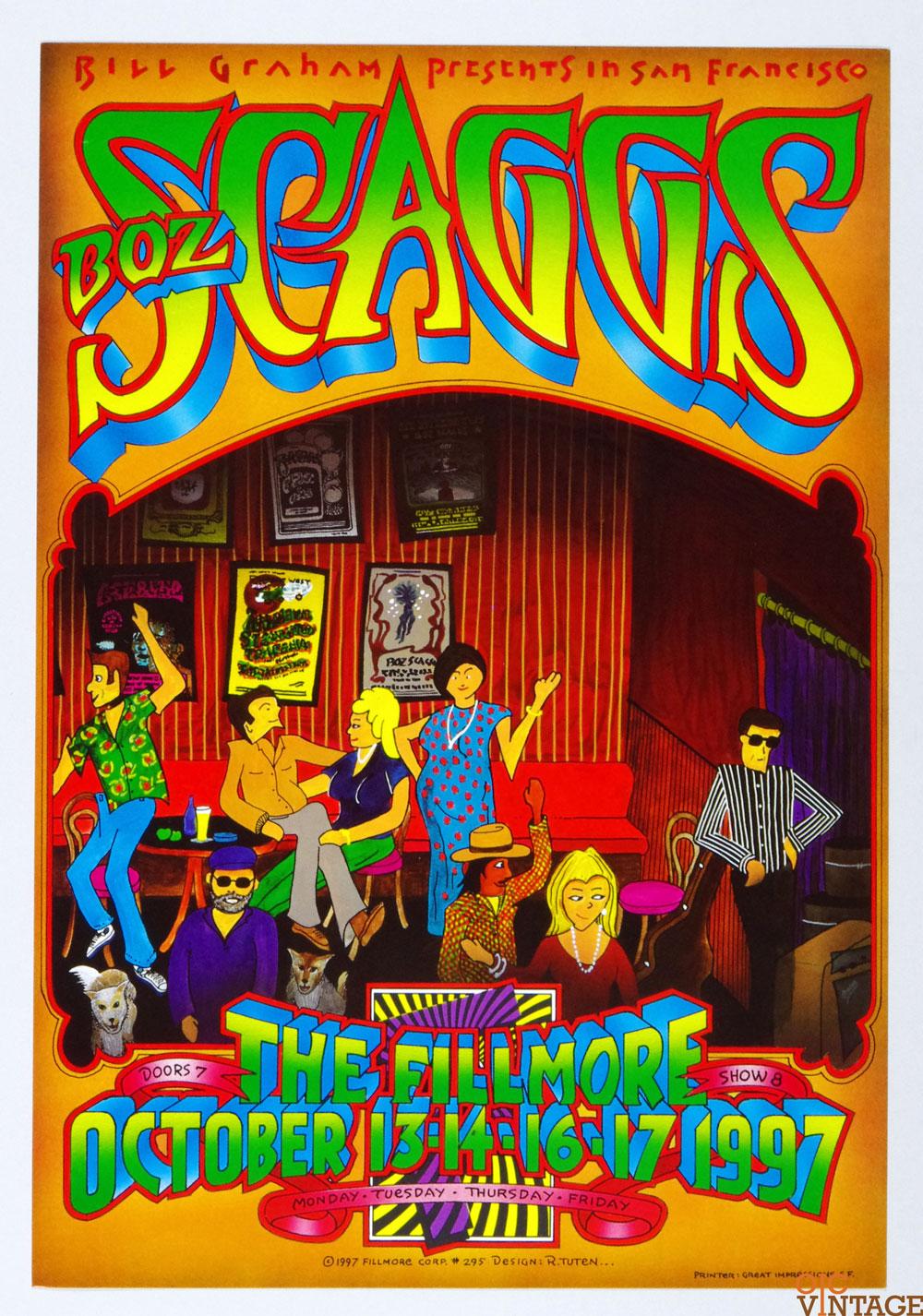 Boz Scaggs Poster 1997 Oct 13 New Fillmore