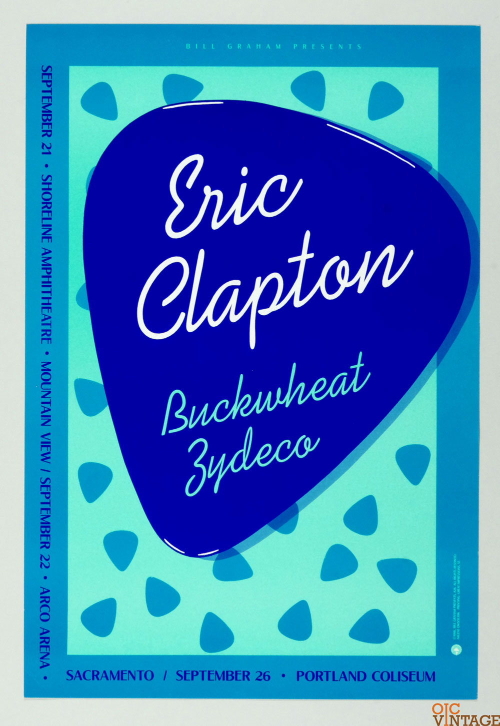 Bill Graham Presents Poster 1988 Sep 21 Eric Clapton #26