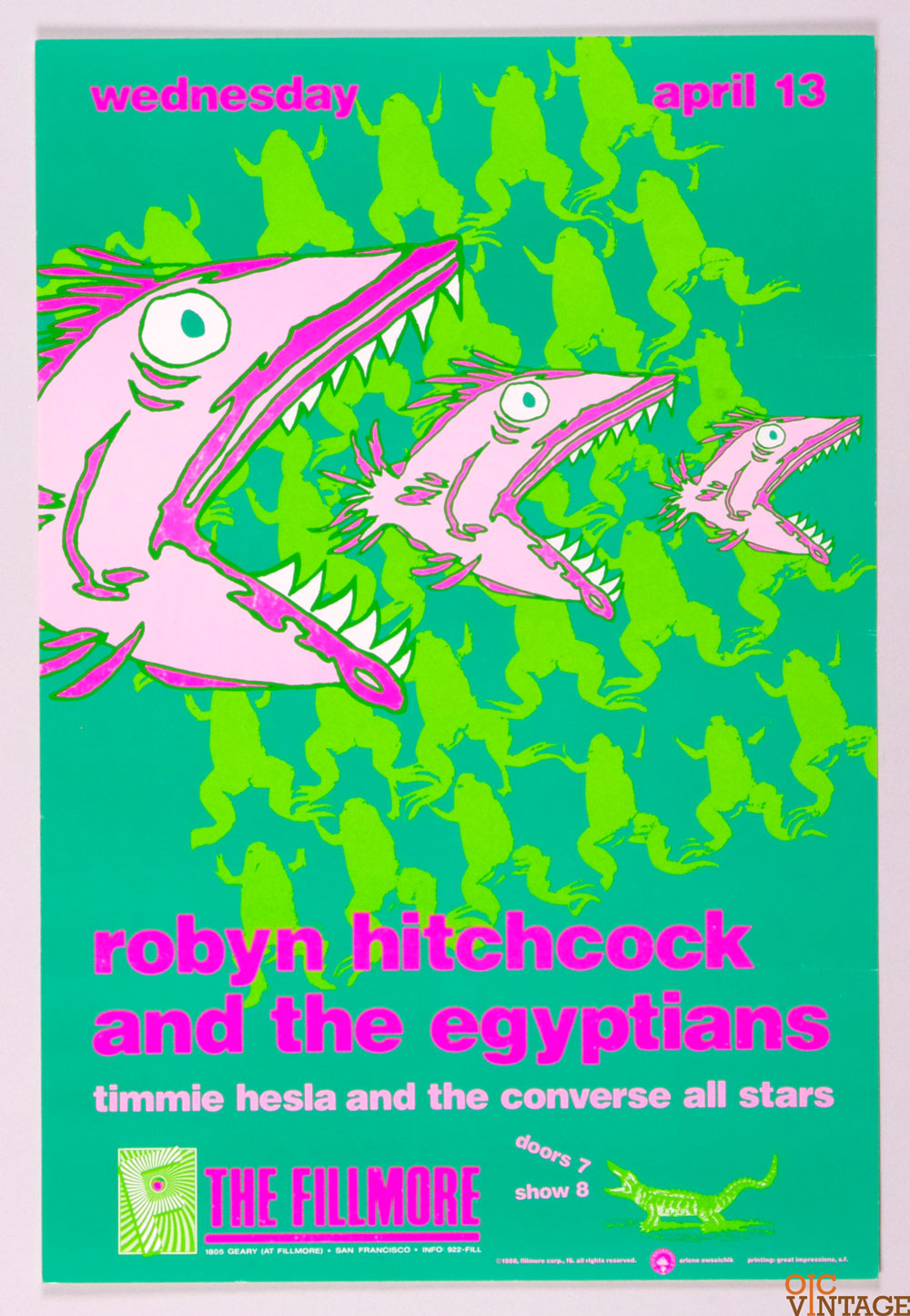 New Fillmore F006 Poster Robyn Hitchcock and the Egyptians 1988 Apr 13