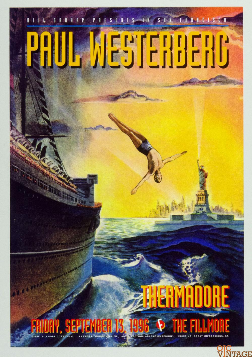 New Fillmore F237 Poster Paul Westerberg Thermadore 1996 Sep 13