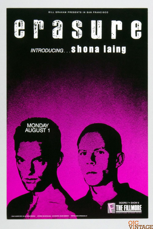 New Fillmore F039 Poster Erasure Shona Laing 1988 Aug 1