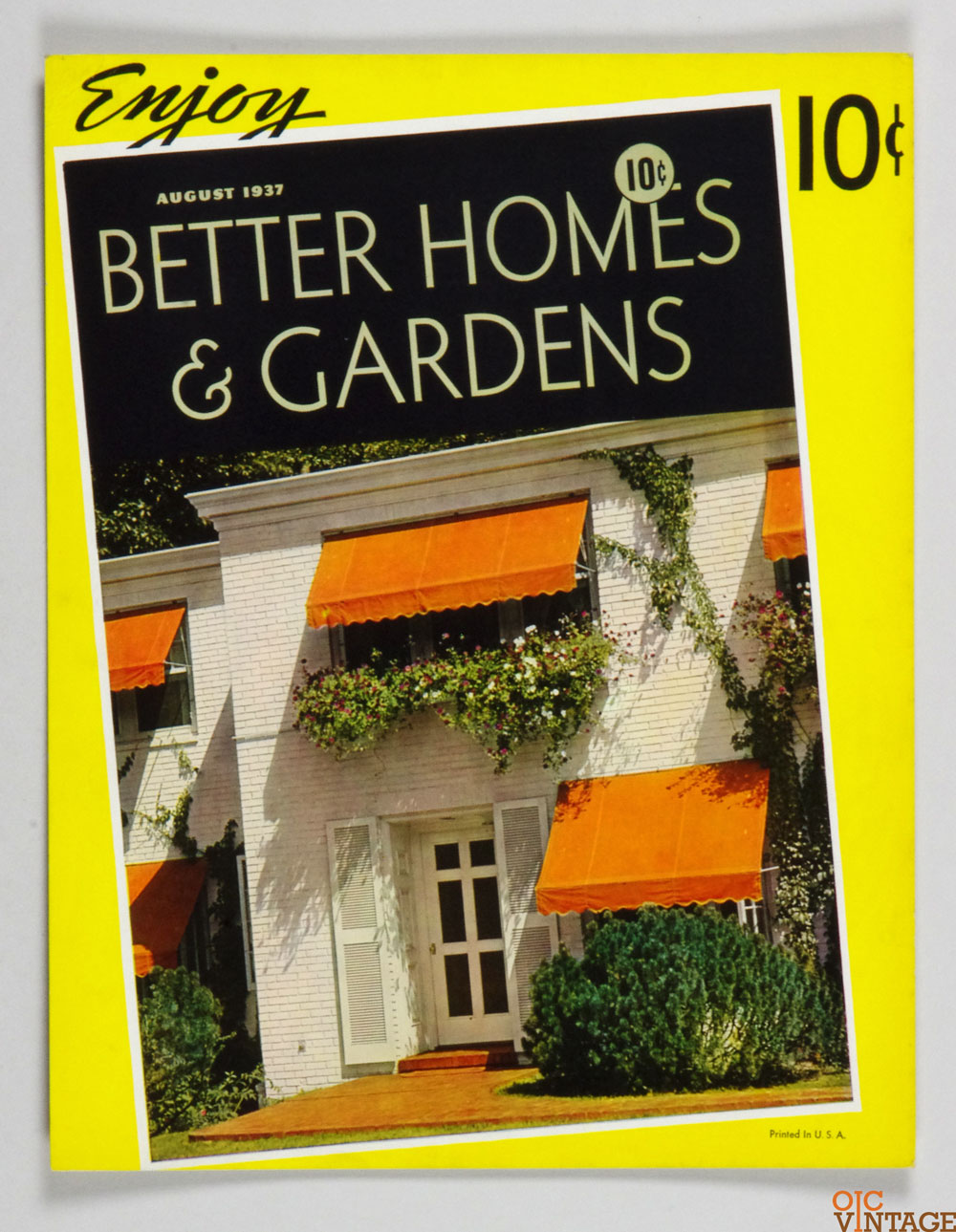 Better Homes & Gardens Cardboard Display  1937 August  Magazine Cover