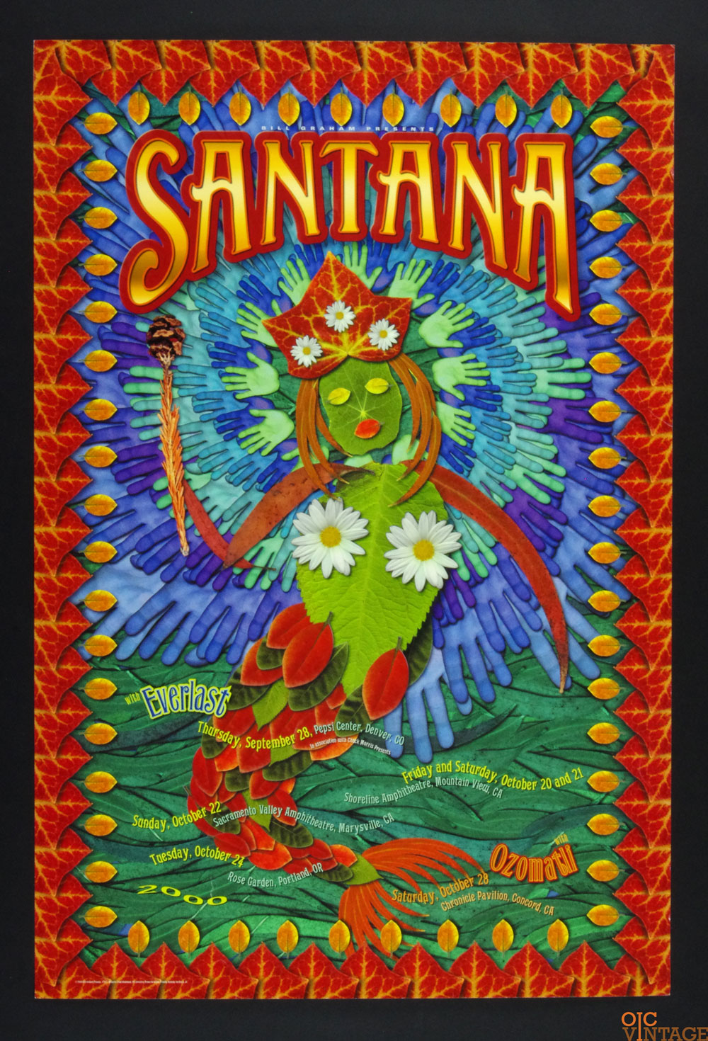 Bill Graham Presents Poster 2000 Sep 28 Santana Tour #247