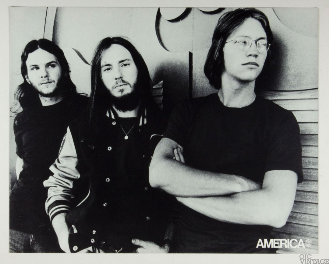 America Poster Cardboard Home Coming 1972 New Album Promo B/W 22 x 27