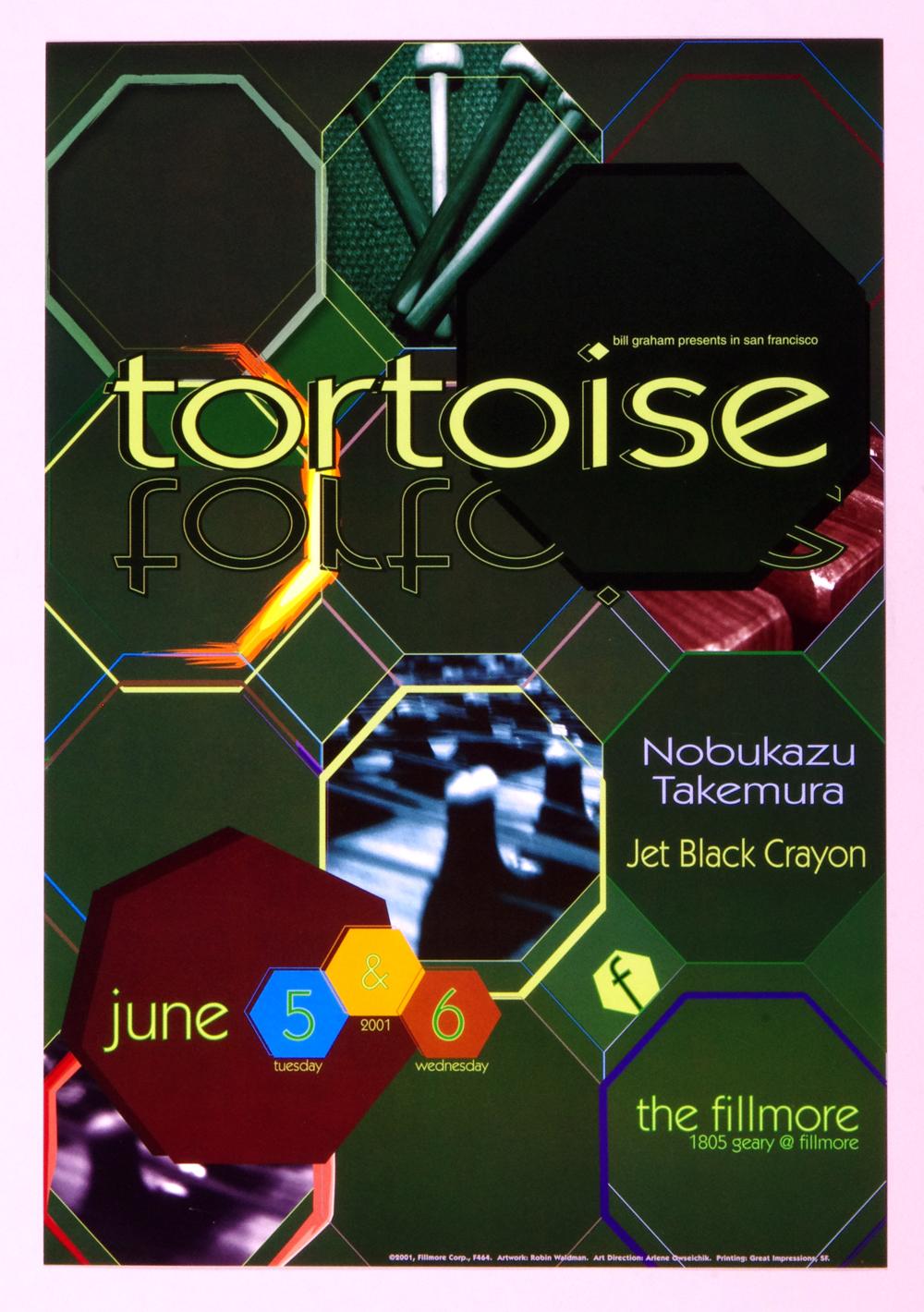 New Fillmore F464 Poster Tortoise Jet Black Crayon 2001 Jun 5