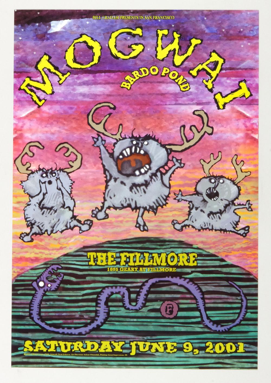 New Fillmore F465 Poster Mogwai Bardo Pond 2001 Jun 9