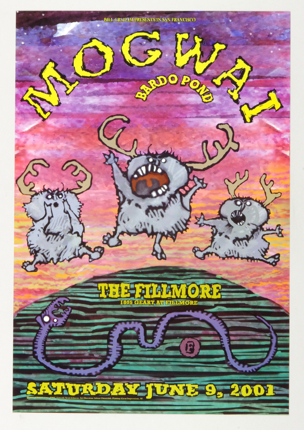 New Fillmore F465 Poster Mogwai Bardo Pond 2001 Jun 9