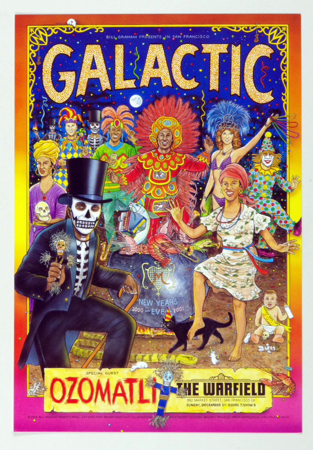 Bill Graham Presents Poster 2000 Dec 31 Galactic Ozomatli #252