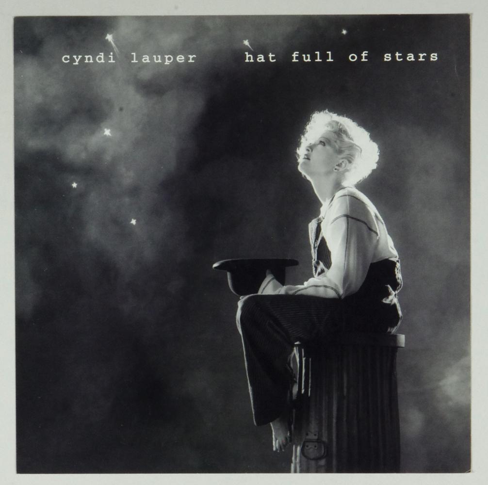 Cyndi Lauper Poster Flat 1993 Hat Full Of Stars Album Promo 12 x 12