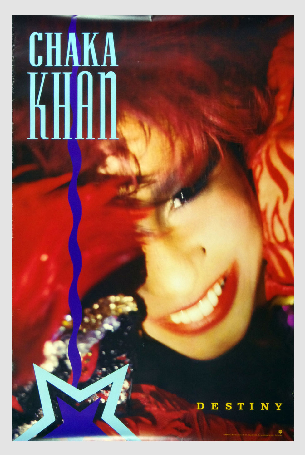 Chaka Khan Poster Destiny 1986 New Album Promo 23 x 35
