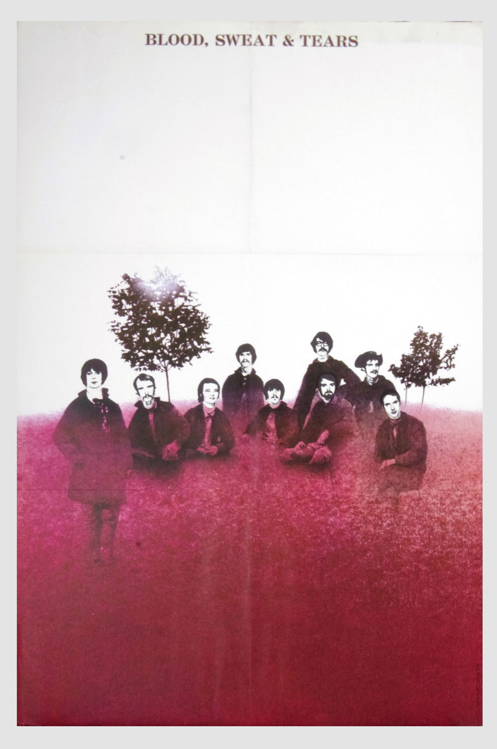 Blood Sweat and Tears Poster self titled 1968 New Albums Promo 22 x 33
