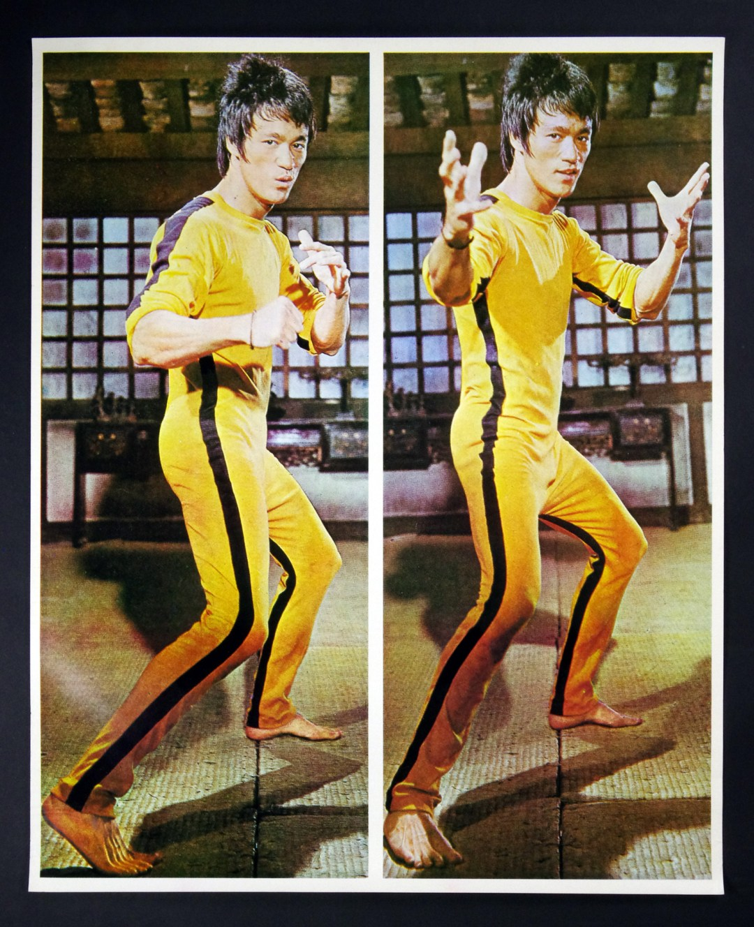 Bruce Lee Poster Game of Death Dual Image 1979 Vintage 23 x 39