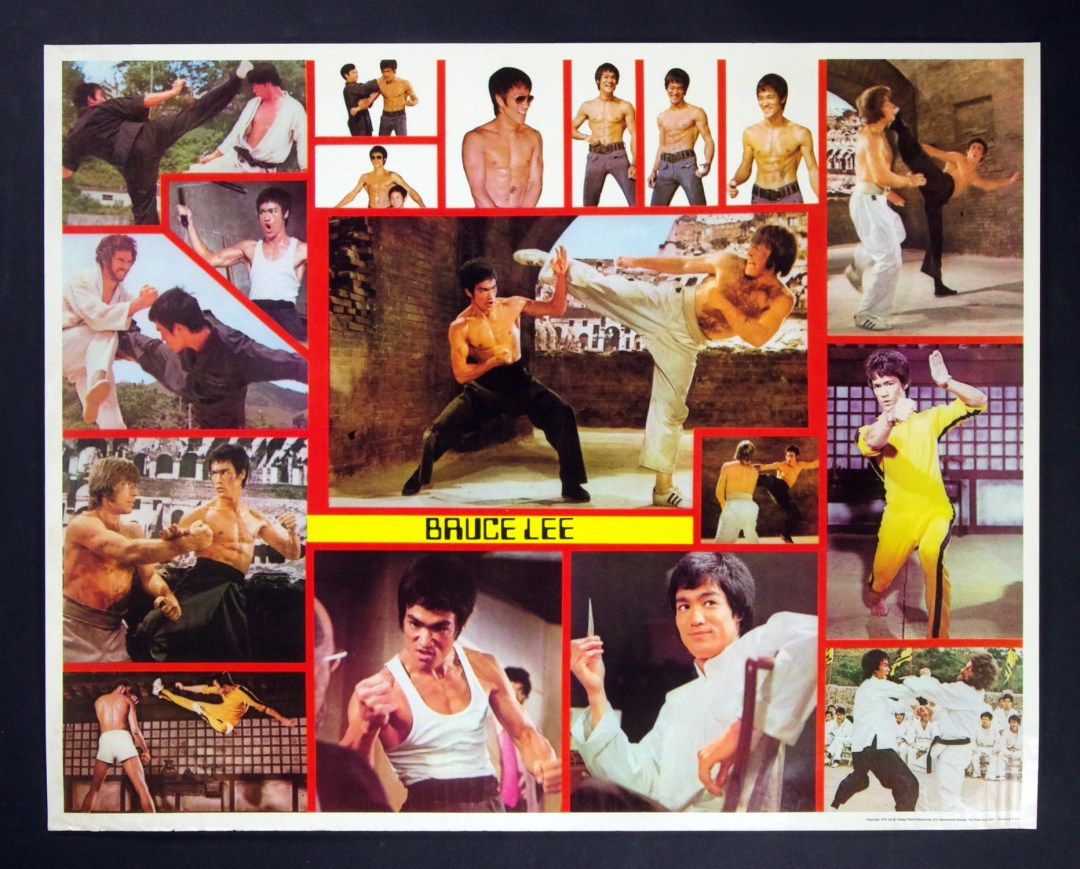 Bruce Lee Poster 1974 Sai M. Chang Photo Enterprise Vintage 23 x 29