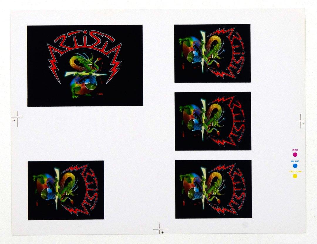 Alton Kelley Artista Logo Uncut Poof Sheet