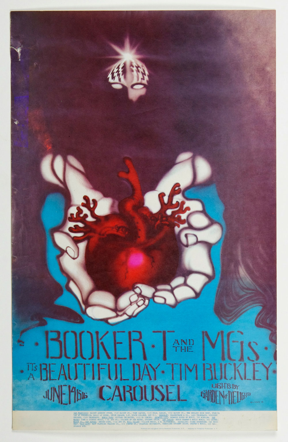 Booker T and the MG's It's Beautiful Day Poster Carousel Ballroom 1968 Jun 14