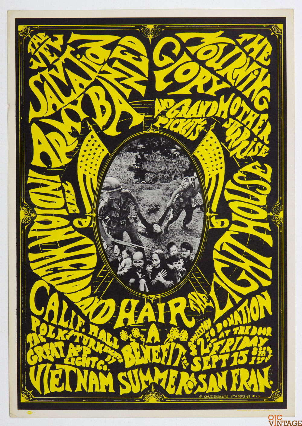 A Benefit for Vietnam Poster 1967 Sep 16 The Indian Headband California Hall