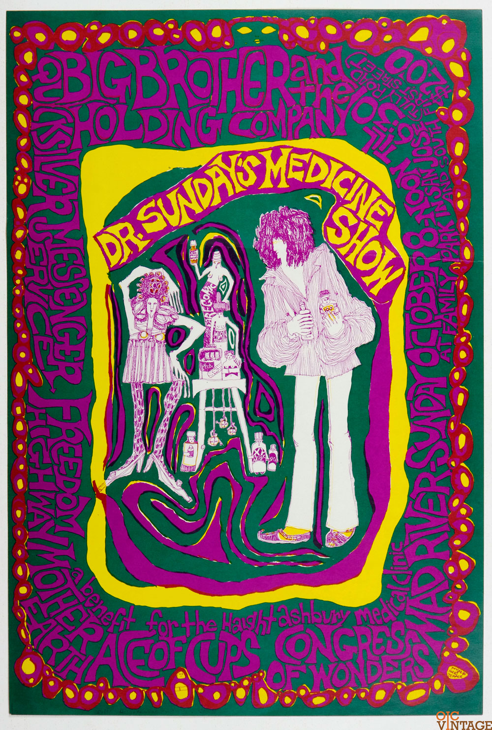 A Benefit for Height and Ashbury Medical Clinic Poster Mari Tepper 1967 Oct 8