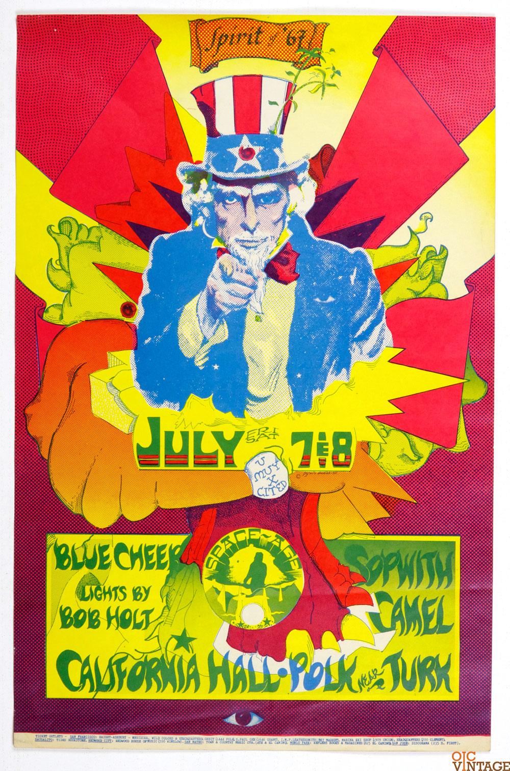 Blue Cheer Poster AOR 2.149 California Hall 1967 Jul 7