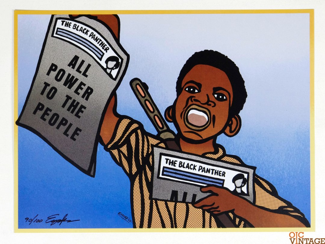 All Power to the People Poster 1969 March 19 Emory Douglas signed