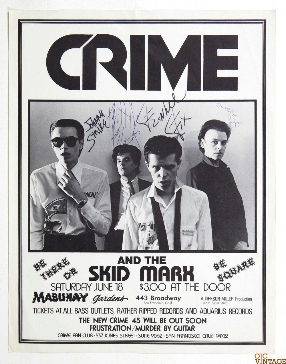 The CRIME Band Punk RockRock Vintage Collectibles @ oicVintage