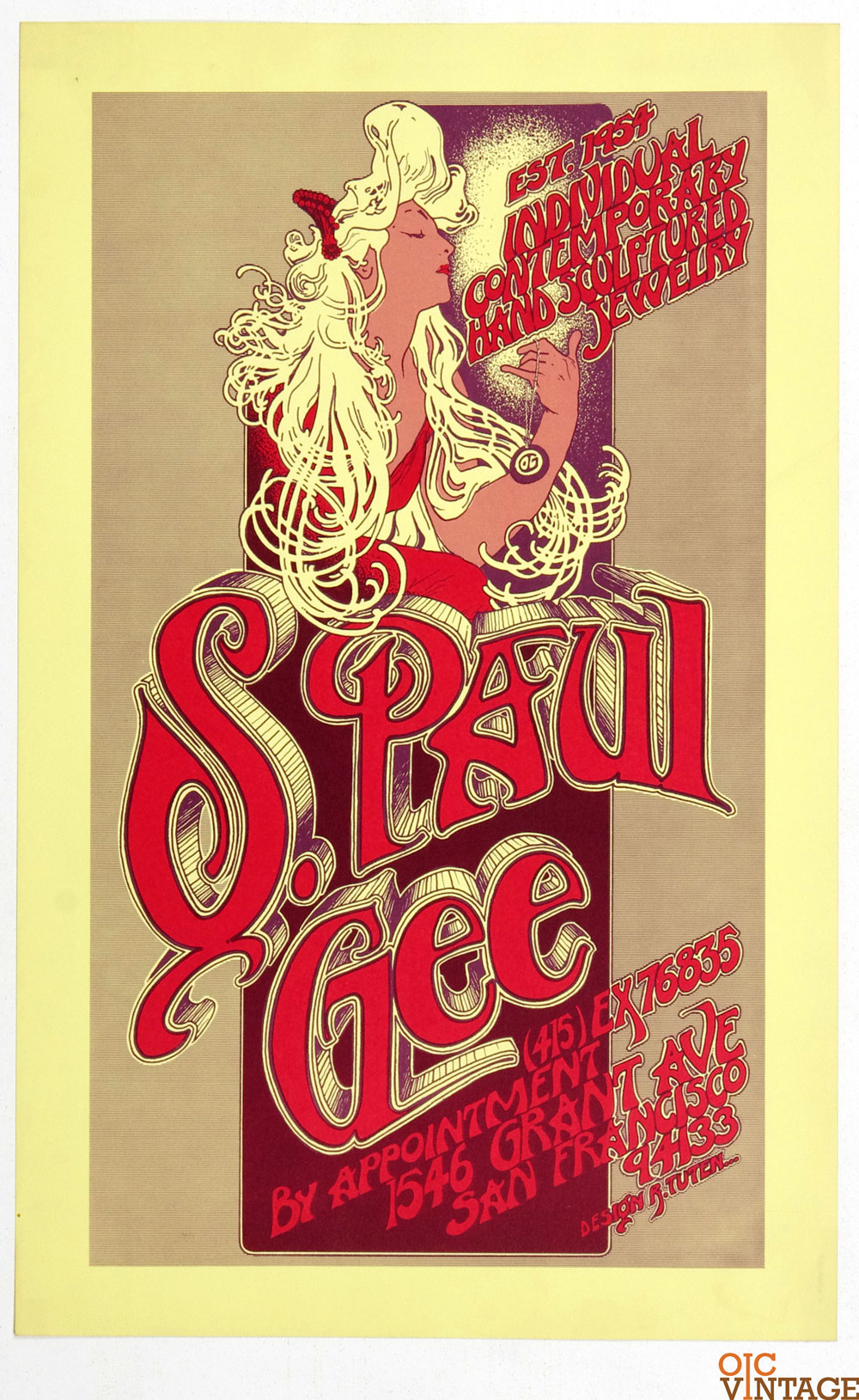 Randy Tuen Poster 1970 St. Paul Gee Jewerly Promotion