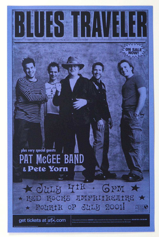 Blues Traveler Poster 2001 Jul 4 Red Rock Amphitheatre