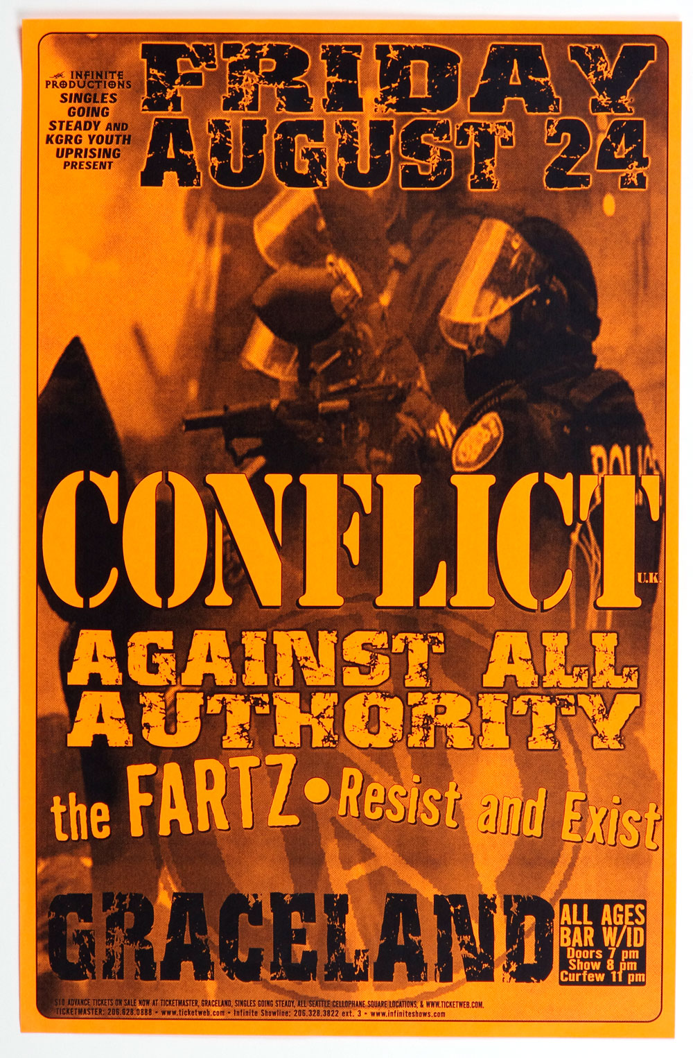 CONFLICT Poster 2001 Aug 24 Graceland Seattle