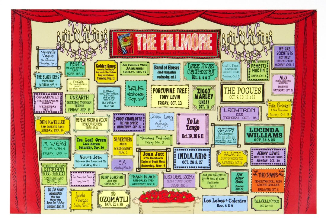 New Fillmore Poster 1996 Oct thru Dec Concert Schedule
