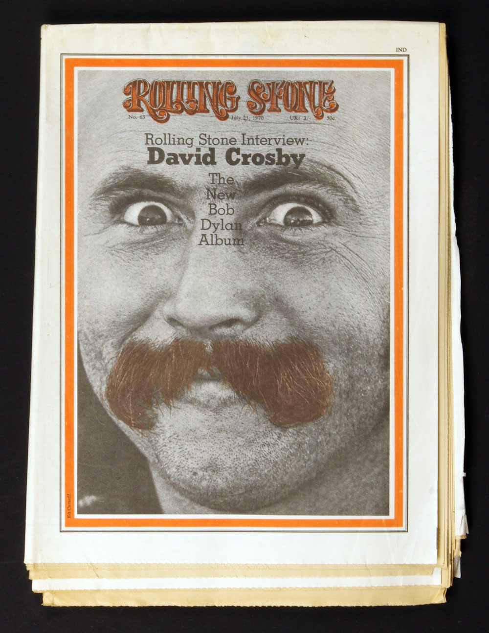 Rolling Stone 63 David Crosby cover long Bob Dylan article