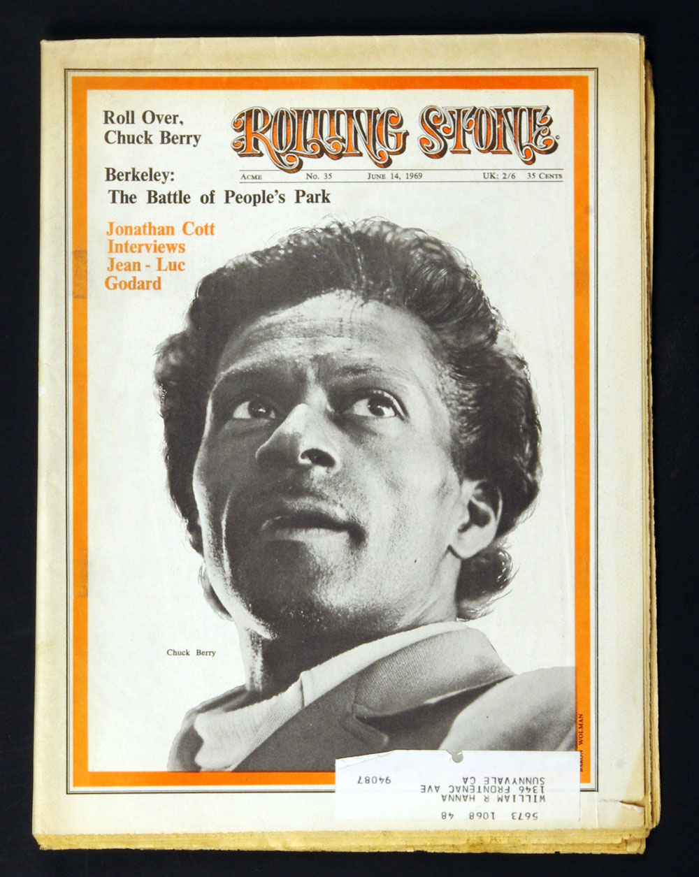 Rolling Stone Magazine 1969 Jun 14 No. 35 Chuck Berry