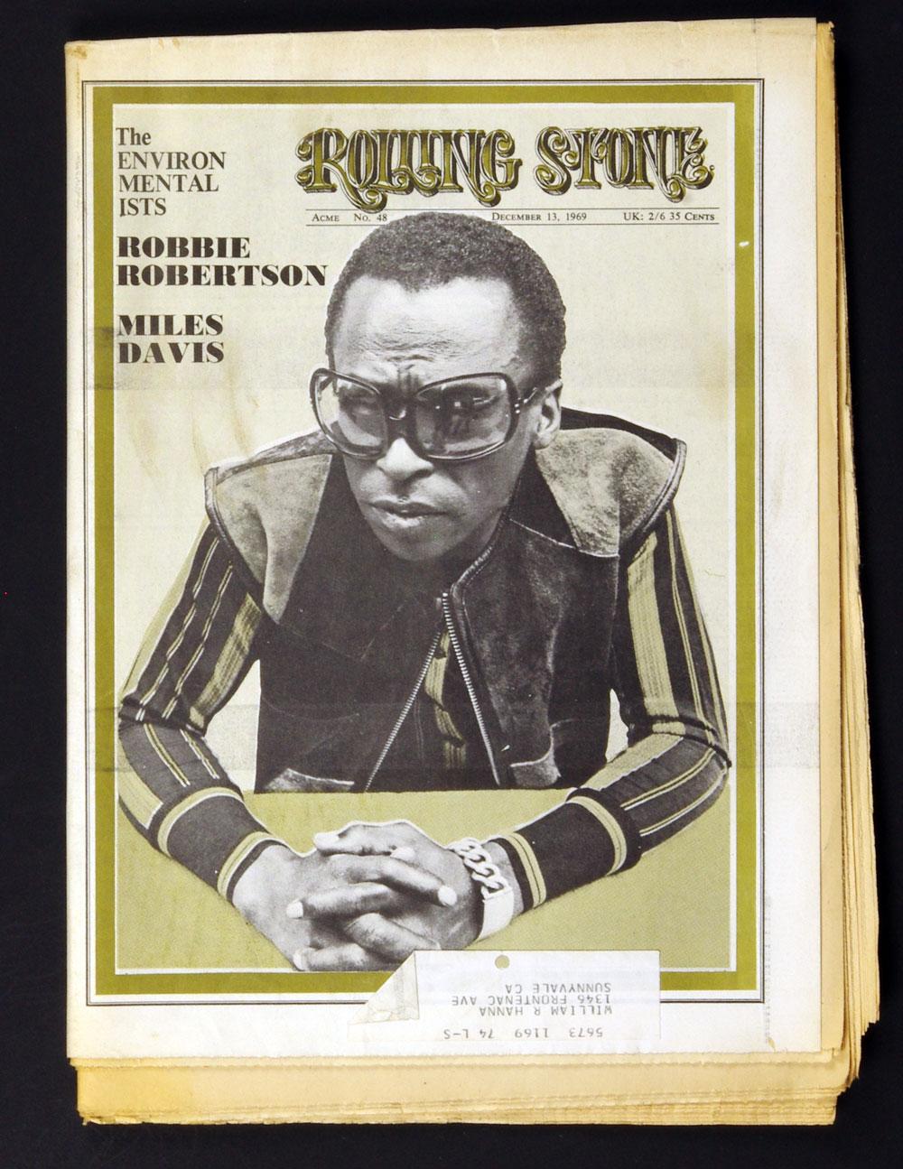 Rolling Stone Magazine 1969 Dec 13 No. 48 Miles Davis
