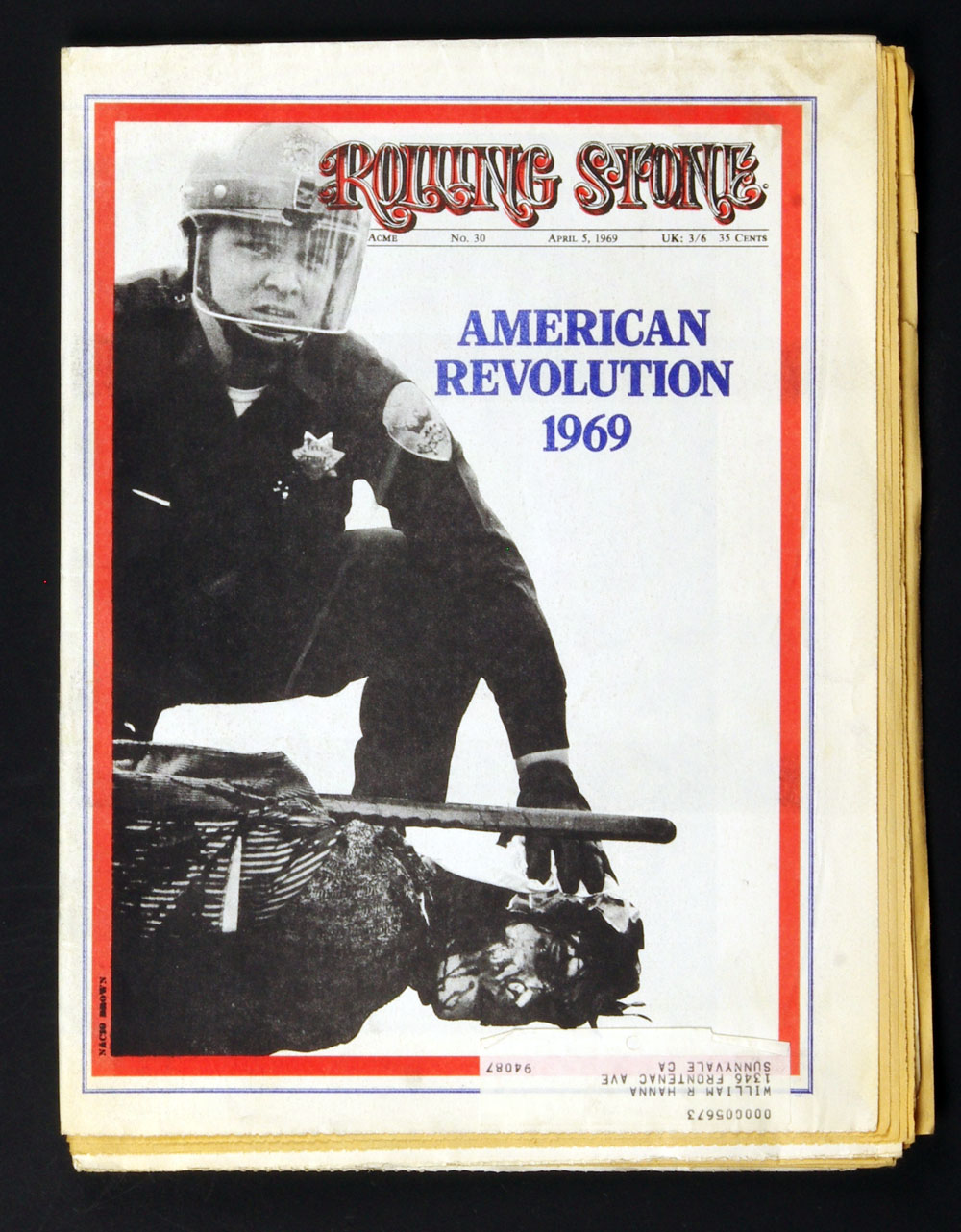 Rolling Stone Magazine 1969 Apr 5 No. 30 American Revolution