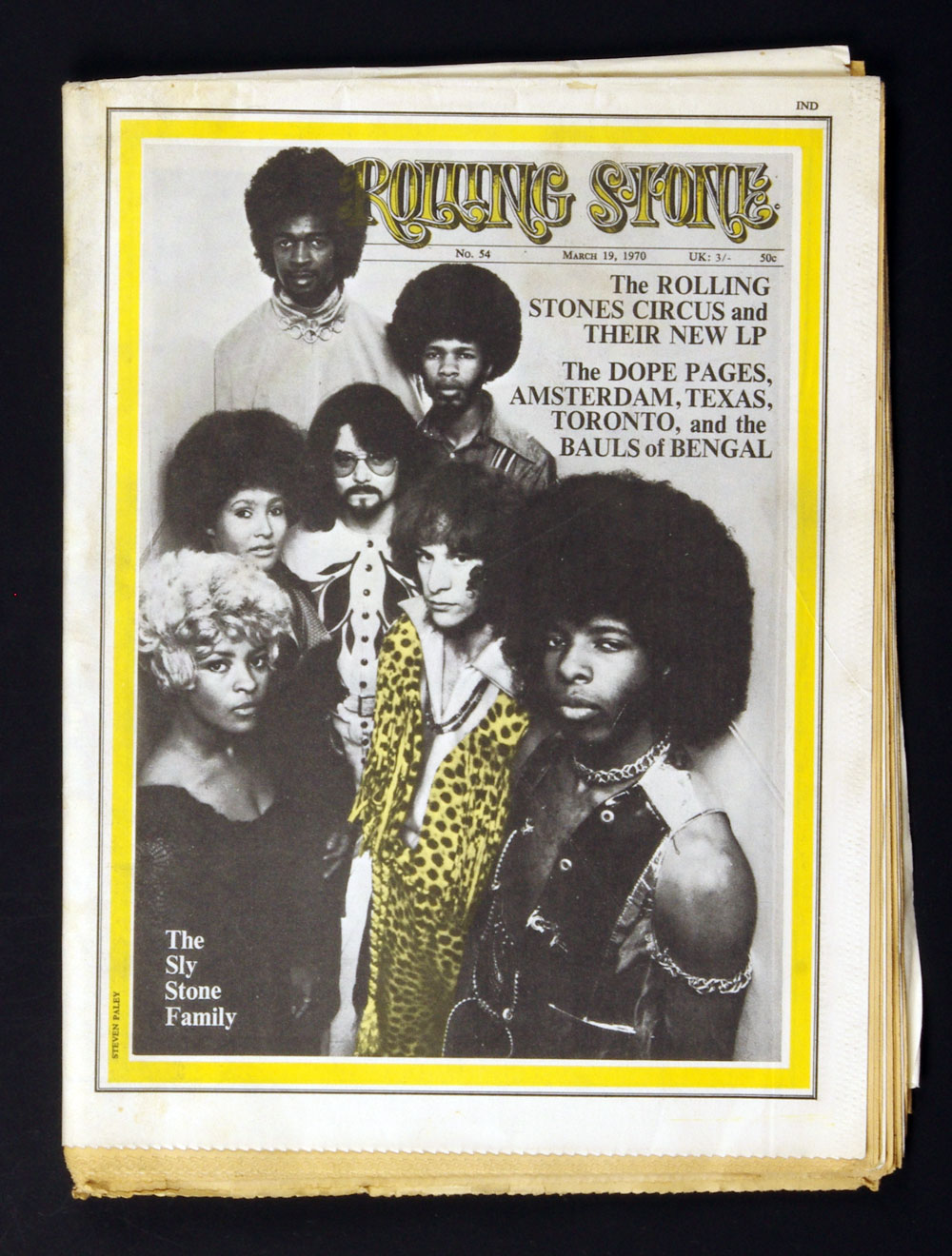 Rolling Stone Magazine 1970 Mar 19 No. 54 Sly and the Family Stone