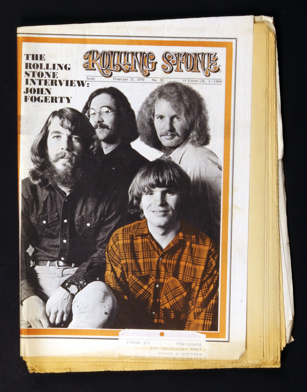 Rolling Stone Magazine 1970 Feb 21 No.52 Creedence Clearwater Revival