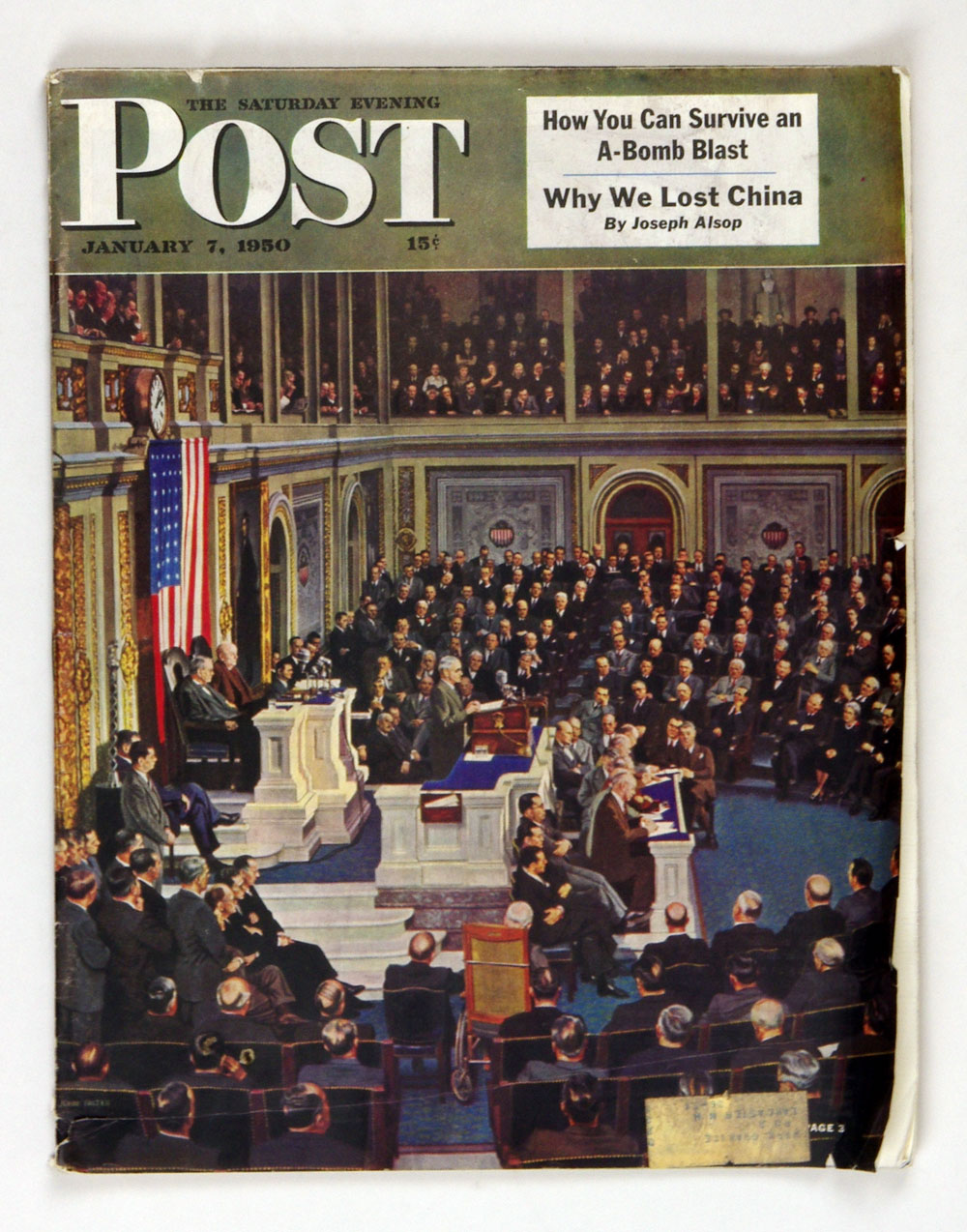 The Saturday Evening Post 1950 Jan 7 President Truman addressing Congress