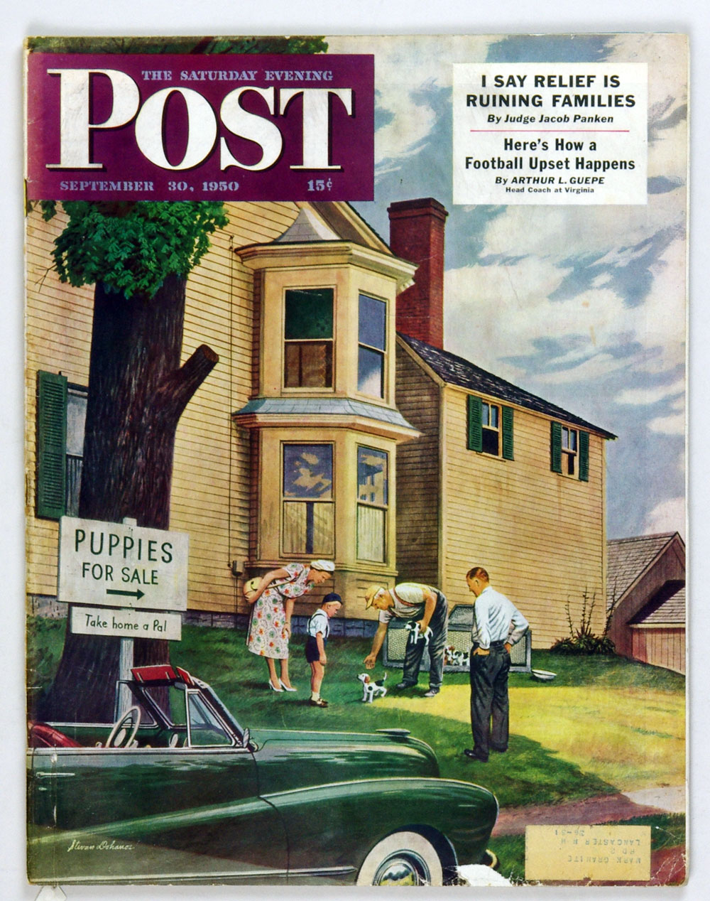 The Saturday Evening Post 1950 Sep 30 Puppies for Sale