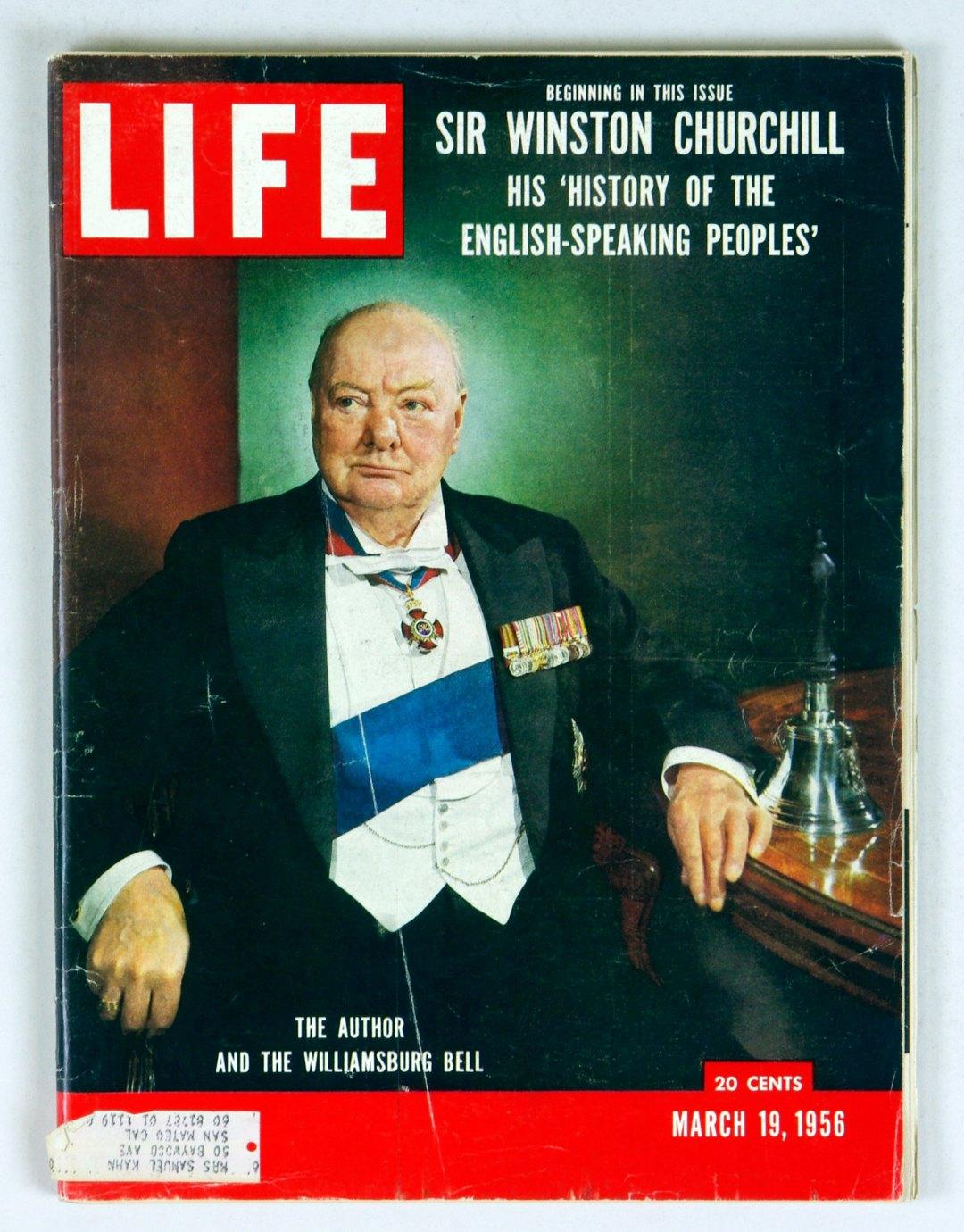 LIFE Magazine 1956 Mar 19 Winston Churchill