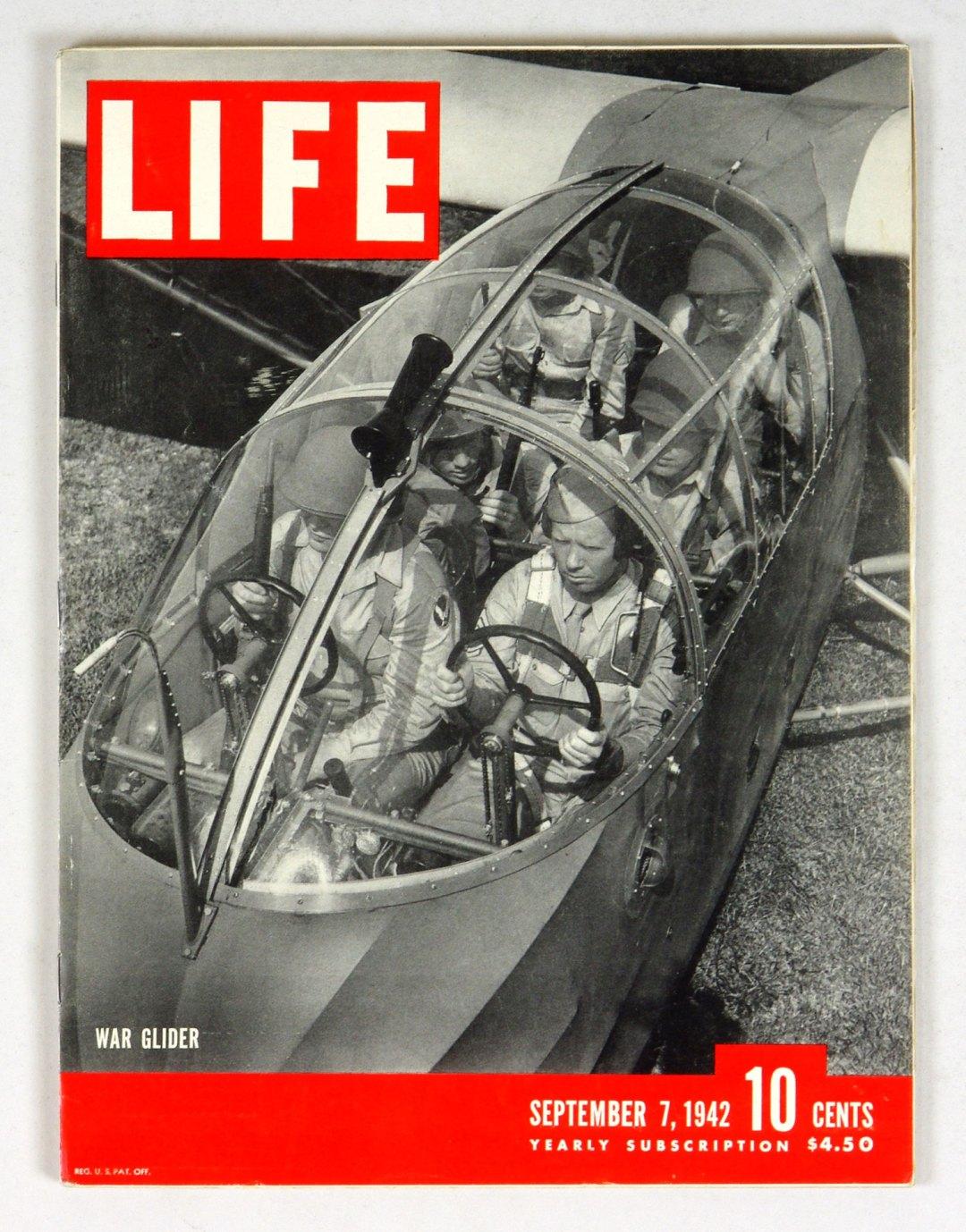 LIFE Magazine 1942 September 7 War Glider Hound